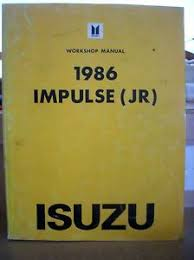 1986 isuzu impulse dealer shop service repair manual book amp image is loading 1986 isuzu impulse dealer shop service repair manual