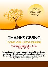 Free Thanksgiving Flyer Templates For Word 23 Free