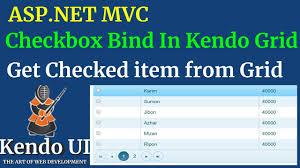 How To Bind Checkbox Inside Kendo Grid