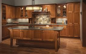 Kitchen Design Cherry Cabinets Gorgeous Cherry Kitchen In Sunset Featuring Vista Mullion Glass Doors KraftMaid