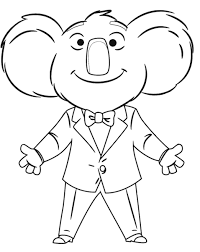 Small Picture Sing movie coloring pages