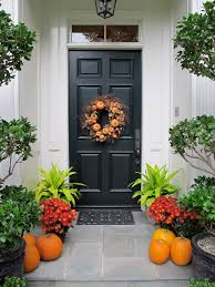fall front door decorationsSimple and Easy Fall Front Doors  Lorri Dyner Design