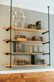 ... pipe open shelving units (see below), and today we wanted to show you  how simple this DIY can be for your own kitchen, bedroom or any room in  your home ...
