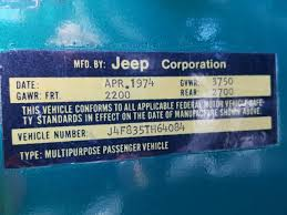 1974 Jeep Cj 5 In Co Denver South J4f835th64084 For Sale