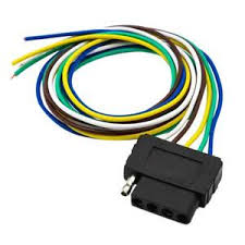 ebay com Five Pin Trailer Wiring Diagram image is loading 5pin flat plug wire wiring harness connection kit