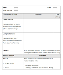 report template for word sample school report templates examples 9 free word pdf