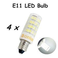 Us 18 99 E11 Led Bulb Light 110v 4w Crystal Lamp 360 Degree 350lm Led E11 Light Replace 35w Halogen Bulb For Chandelier Lighting In Led Bulbs