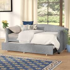 upholstered daybed with trundle. Brilliant Trundle Alvina Upholstered Daybed With Trundle Throughout With