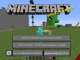 Minecraft Pictures To Print Free Minecraft Party Invitations To Download Edit And Print Mumlyfe