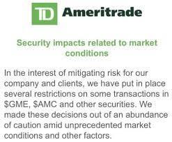 TD Ameritrade Curbs GameStop Trades as ...