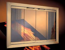 painting fireplace doors shiny