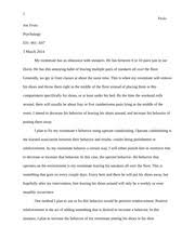 behavior modification paper behavior modification paper  3 pages psych paper 1