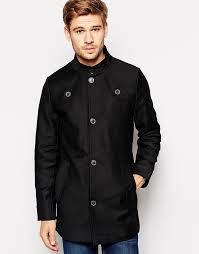 selected funnel neck trench coat
