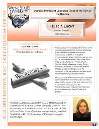 Felecia Lucht Flyer