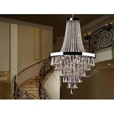 810637 palace 22 light pendant crystal chrome clear