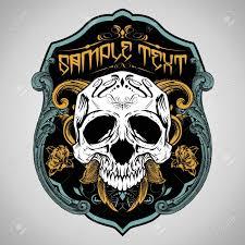 Design Skull T Shirt Vector Illustration Skull T Shirt Design Logos