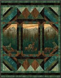 Best 25+ Panel quilts ideas on Pinterest | Fabric panel quilts ... & Nine Miles - Aspen Nature Quilt Pattern - Written for Stonehenge Aspen  Ridge Fabric & Panel Adamdwight.com