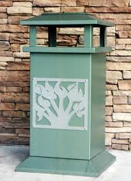 outdoor trash cans trash receptacles corrugated trash receptacle