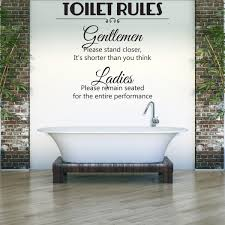 toilet rules wall sticker las and gents wall decal funny home decor