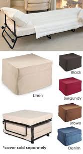 Fold-Out Ottoman Bed Hide a guest bed in plain sight! Ottoman by day.bed by  night. Would be able to use playroom as backup guest room with something  like ...