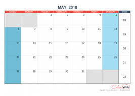calendar for the month of may monthly calendar month of may 2018 the week starts on sunday