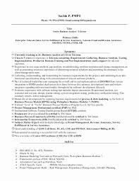 Telecom Business Analyst Resume Samples Best Of Tele Analyst Resume