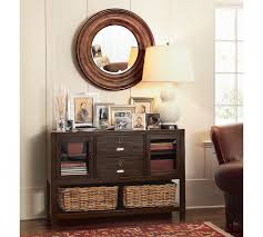skinny entryway table. Exciting Round Wall Mirror And Table Lamp With Small Entryway Also Picture Frames Entry Skinny