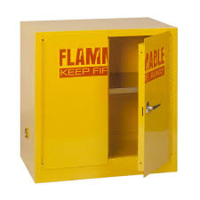 Yellow Flammable Cabinet Edsal 35 In H X 35 Inw X 22 In D Steel Freestanding Flammable