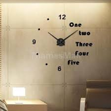 diy office art. Contemporary Diy DIY Large Number Wall Clock 3D Mirror Sticker Home Office Art Decal 5 And Diy D