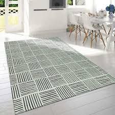 details about check rugs modern black and white cotton woven mat small large room floor carpet