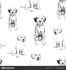 Animale Schizzo Disegno Matita Cane Carino Piccola Illustrazione Del