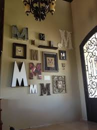 monogram letter wall decor