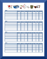 Editable Chore Chart For Adults Chore Charts For Kids Ages 11 Free Printable Chore Charts