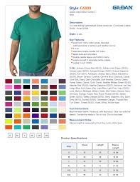 Gildan Youth Heavy Cotton 5 3 Oz T Shirt Size Chart Best