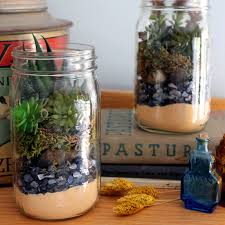 make this mason jar succulent terrarium for your home or to give as a gift