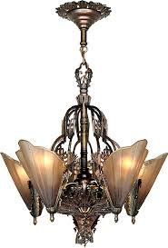 art deco chandelier regarding vintage hardware lighting and nouveau decor 2