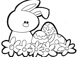 Small Picture easter with a beautiful flower coloring page for kids free