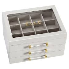 jewelry display box. Fine Display Elle Lacquer Jewelry Display Box Pbteen Intended T