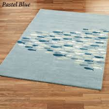 beach area rugs schooled fish wool rectangle rug oval nautical beachy