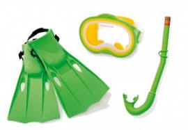 <b>Набор для плавания Intex</b> Мастер (маска, трубка, ласты) с 8 лет ...