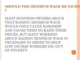 choosing a persuasive essay topic should the minimum wage