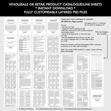 Price List Templates Beauteous Catalogue Template Wholesale Retail Pricing Product Line Etsy