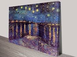 van gogh starry night over rhone classical wall art on canvas