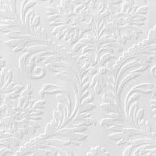 Anaglypta Luxury White High Traditional Textured Paintable Wallpaper |  Departments | DIY at B&Q.