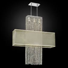 rectangular shade crystal chandelier urban essentials 595 by glow lighting