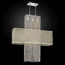 rectangular shade crystal chandelier urban essentials 595 by glow lighting