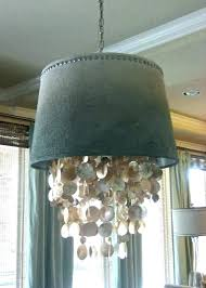 shell lamp shade lamp shades burlap drum shade chandelier dripping shell chandelier shade world market chandelier
