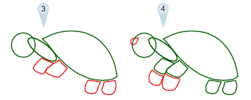 Small Picture Drawing Cute Cartoon Turtle Step by Step