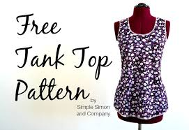 Tank Top Pattern Extraordinary Free Tank Top Pattern Simple Simon And Company