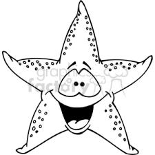 cute animals clipart black and white.  White Funny Cartoon Fish Starfish Star Character Black White To Cute Animals Clipart Black And White N